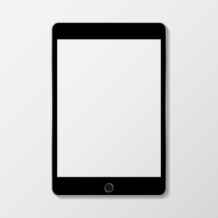 Cyfrowy nowoczesny makieta ekranu tabletu Ilustracje wektorowe