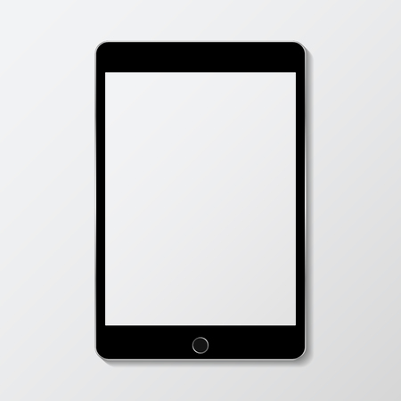 Digital modern tablet screen mockup