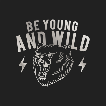 Be young and wild logo vector