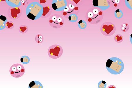 Cute love emoticon collection vector 写真素材 - 118927750