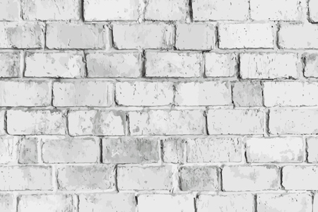 Rustic gray brick textured background vector