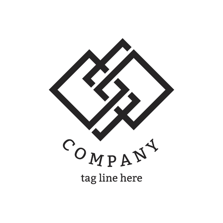 Modern company logo design vector Ilustração