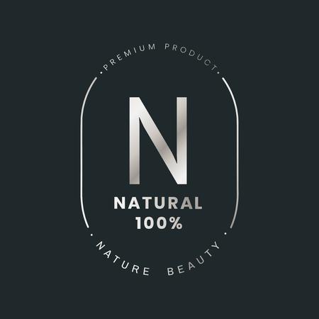 Natural brand logo badge vector