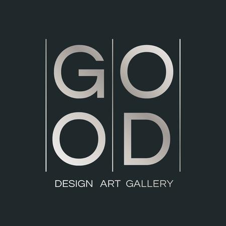 Good design art gallery logo vector