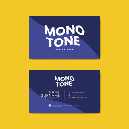 Monotone business card template mockup vector 版權商用圖片 - 118927778