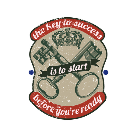 The key to success is to start before you're ready vector Иллюстрация
