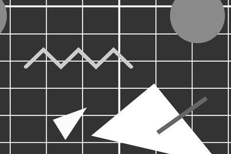 Gray Memphis patterned background vector Illustration