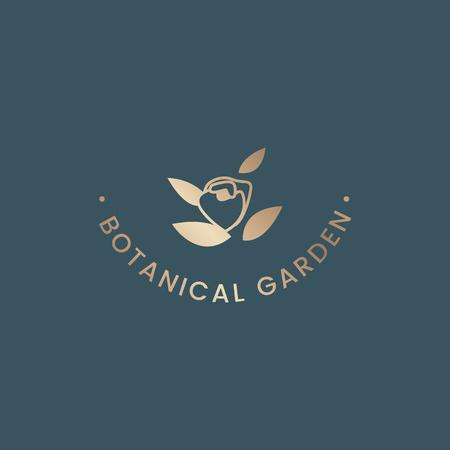 Botanical garden rose badge vector Vecteurs