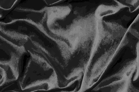 Luxury shiny black silk fabric textured vector Ilustração