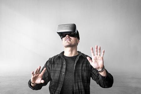 Man enjoying a VR headset