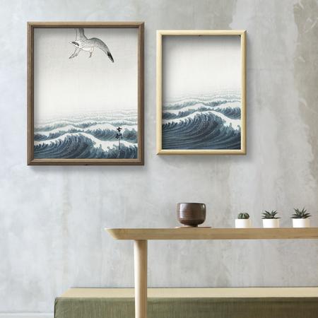 Minimal art frame mockup design