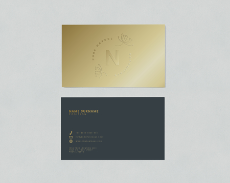 Business card and name card mockup Stock Photo