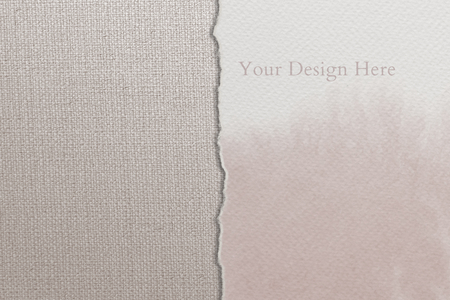 Two textured backgrounds and paper mockup Banco de Imagens - 118993645