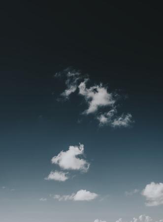 Cloud in a dark blue sky