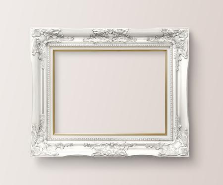 Maquette de cadre baroque luxueux sur un mur