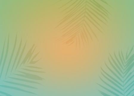 Sfondo vibrante con silhouette di foglie tropicali