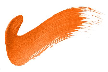 Marca de verificación trazo de pincel naranja brillante Foto de archivo