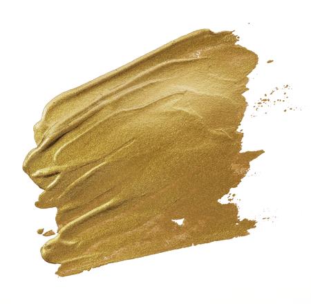 Festive shimmery golden brush stroke Imagens