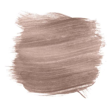 Festive shimmery copper brush stroke