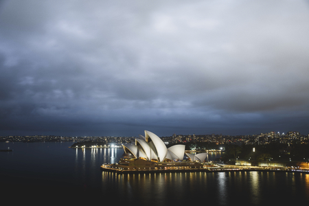 The Sydney Opera House at night, Australia Editorial