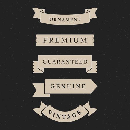 Vintage premium banner collection vectors Banque d'images - 119601040