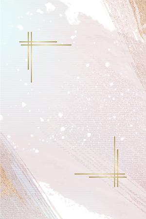 Goldrahmen auf einem rosa weiblichen Plakatvektorvektor