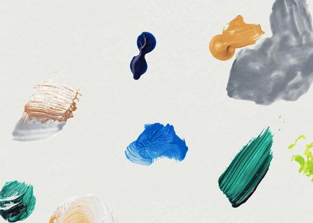 Colorful acrylic brush stroke vector
