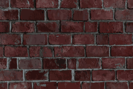 Reddish brown brick textured background vector Ilustração
