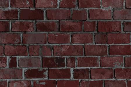 Reddish brown brick textured background vector Illustration