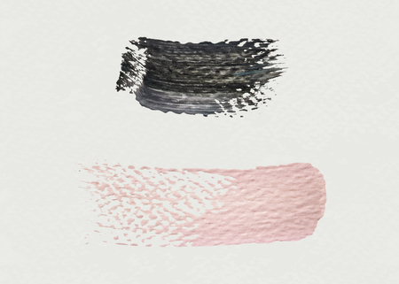 Pink and black acrylic brush stroke vector