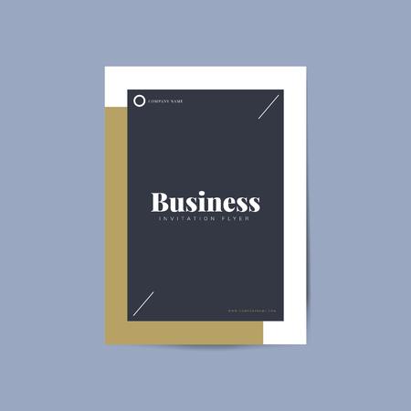 Business flyer template mockup vector