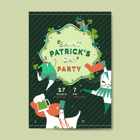 St. Patrick's Day poster vector Illustration