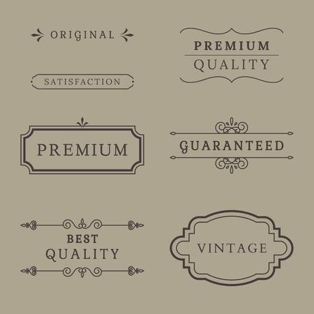 Vintage premium label collection vectors Banque d'images - 119601287