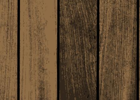 Rustieke donkerbruine houten getextureerde achtergrond vector