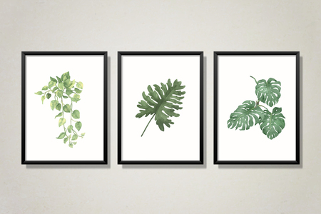 Leaves on a frame collection vector