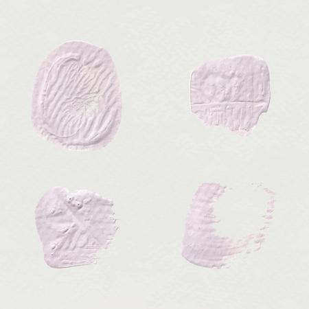 Pink acrylic brush stroke vector Illusztráció
