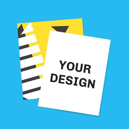 Colorful geometric memphis style card
