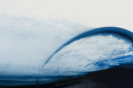 Blue water color brush stroke vector