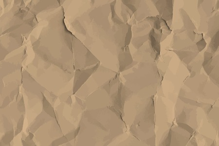 Brown crumpled paper textured background vector Stock Vector - 124219985
