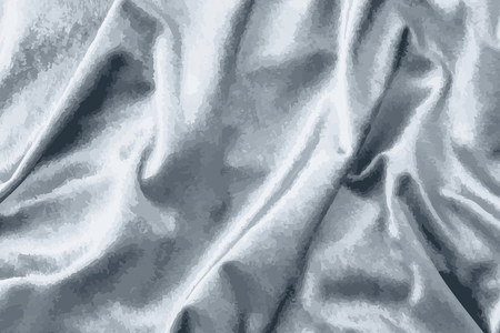 Luxury shiny silver silk fabric textured vector