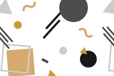 Black and orange Memphis background vector