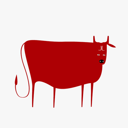 Year of the cow vector Çizim