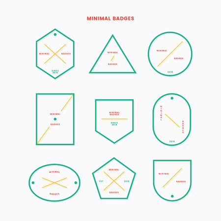 Minimal logos and labels vector set