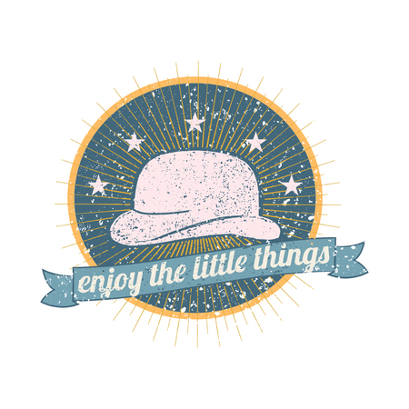 Enjoy the little things badge vector