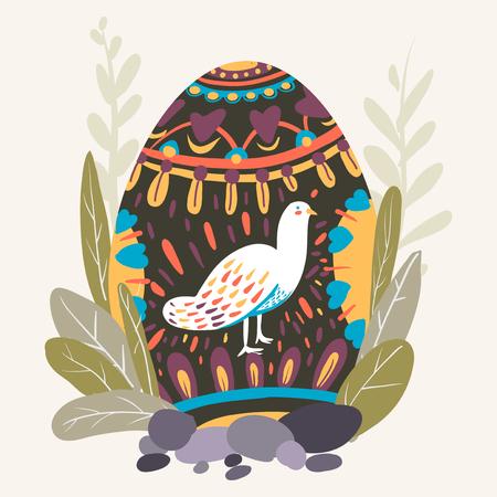 Vettore di uova dipinte festa di Pasqua