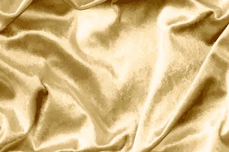 Vecteur texturé de tissu de soie or brillant de luxe Vecteurs