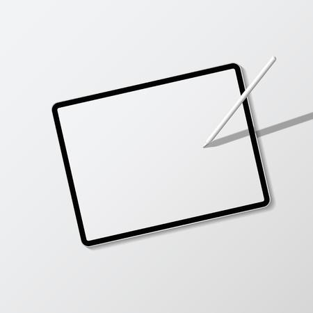 Maqueta de pantalla de tableta digital moderna