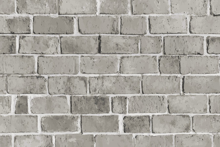 Rustic gray brick textured background vector Ilustração
