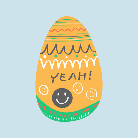 Easter celebration card vector Stock Vector - 124220035