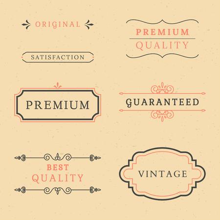 Vintage premium label collection vectors Banque d'images - 119601554